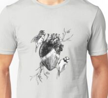 Bird Heart Retro Unisex T-Shirt