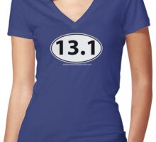 13.1 Half Marathon Women's Fitted V-Neck T-Shirt