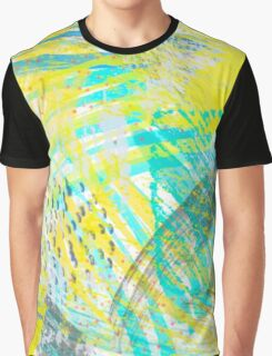 Abstract yellow green pattern Graphic T-Shirt