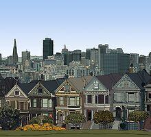 San Francisco Painted Ladies by itsrturn