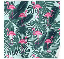 tropic abstract flamingo Poster