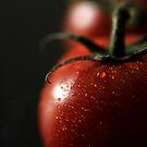 Tomato closeup by beanocartoonist