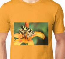 Tiger Swallowtail Butterfly On Daylily Unisex T-Shirt