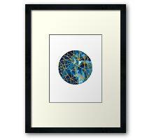 Geometric Moon Framed Print