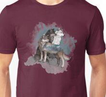 Double Exposure Wolves Unisex T-Shirt