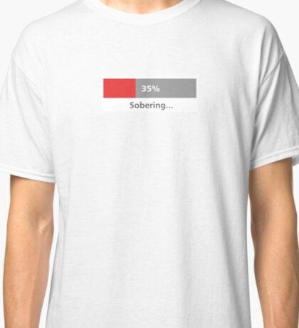 "Progress Bar reads ""Sobering"" Classic T-Shirt"