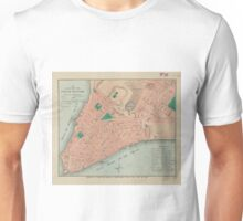 Vintage Map of Lower Manhattan (1776) Unisex T-Shirt