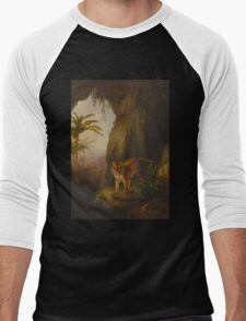 Tiger in a Cave Men's Baseball ¾ T-Shirt