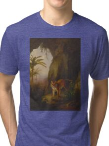 Tiger in a Cave Tri-blend T-Shirt