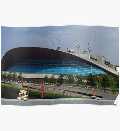 Little Ted & The London Aquatics Centre Poster