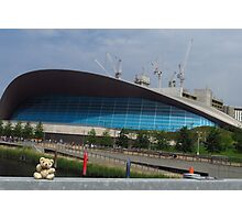 Little Ted & The London Aquatics Centre Photographic Print
