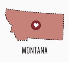 Montana State Heart Kids Tee