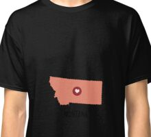 Montana State Heart Classic T-Shirt