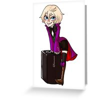The Suitcase is Empty! Greeting Card