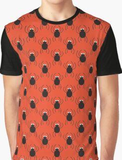 Halloween spiders simple pattern. Cute seamless background.  Graphic T-Shirt