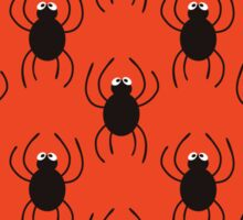 Halloween spiders simple pattern. Cute seamless background.  Sticker