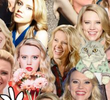 Kate McKinnon collage Sticker