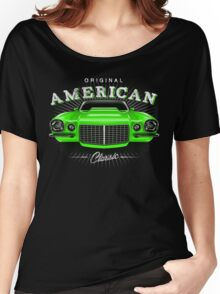 CLASSIC CHEVROLET CAMARO MUSCLE CAR | GREEN Women's Relaxed Fit T-Shirt