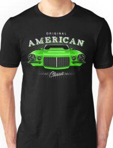 CLASSIC CHEVROLET CAMARO MUSCLE CAR | GREEN Unisex T-Shirt