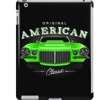 CLASSIC CHEVROLET CAMARO MUSCLE CAR | GREEN iPad Case/Skin