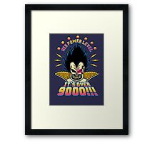 Over 9000! Framed Print