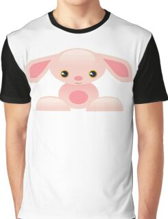 Little Pink Baby Bunny - The Shy Graphic T-Shirt