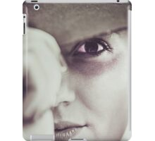 Portrait of young cowgirl  iPad Case/Skin