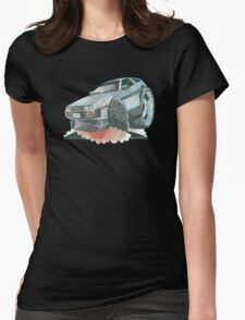 DeLorean Caricature Womens Fitted T-Shirt
