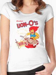 Lion-O's Cereal Women's Fitted Scoop T-Shirt