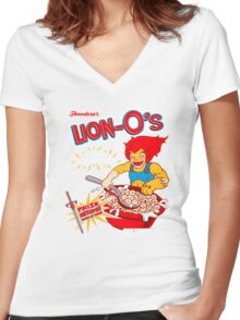 Lion-O's Cereal Women's Fitted V-Neck T-Shirt