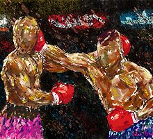 Boxers in action by ibadishi