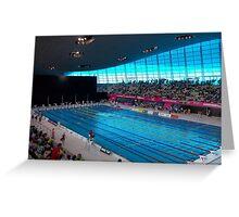 London Olympic Pool 2012 Greeting Card