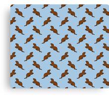 Cute Otter pattern Canvas Print