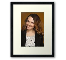 woman with big Smiling face  Framed Print