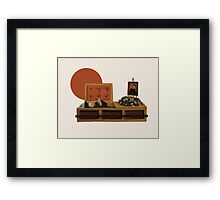 Cool cat funeral Framed Print