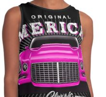 CLASSIC CHEVROLET CAMARO MUSCLE CAR | PINK Contrast Tank