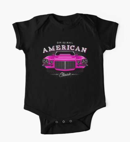 CLASSIC CHEVROLET CAMARO MUSCLE CAR | PINK One Piece - Short Sleeve