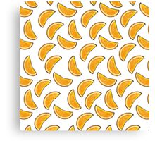 Orange Slices (White Background) Canvas Print