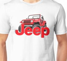 RED JEEP Unisex T-Shirt