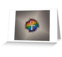 LGBT Egyptian Ankh  Greeting Card