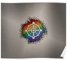 LGBT Buddhist Wheel of Dharma  Poster