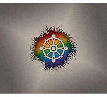 LGBT Buddhist Wheel of Dharma  Photographic Print