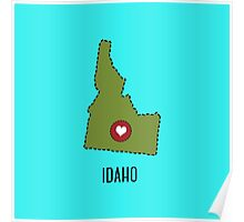 Idaho State Heart Poster