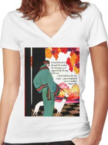 Joy Quote by Anais Nin Women's Fitted V-Neck T-Shirt