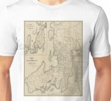 Vintage Map of Newport Rhode Island (1901) Unisex T-Shirt