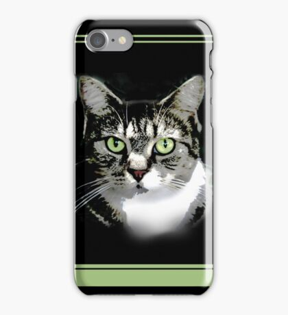 Cat Nap with Green iPhone Case/Skin