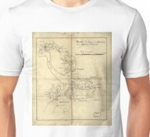 Vintage Newport News and Hampton Roads Map (1800)  Unisex T-Shirt