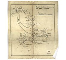 Vintage Newport News and Hampton Roads Map (1800)  Poster