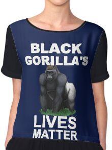 BLACK GORILLAS LIVE MATTER Chiffon Top