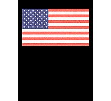 American, Faded Flag, Stars & Stripes, USA, Old Glory, The Star-Spangled Banner, America, Americana, USA, ON BLACK Photographic Print